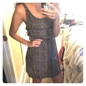 Leopard print ruffled dress